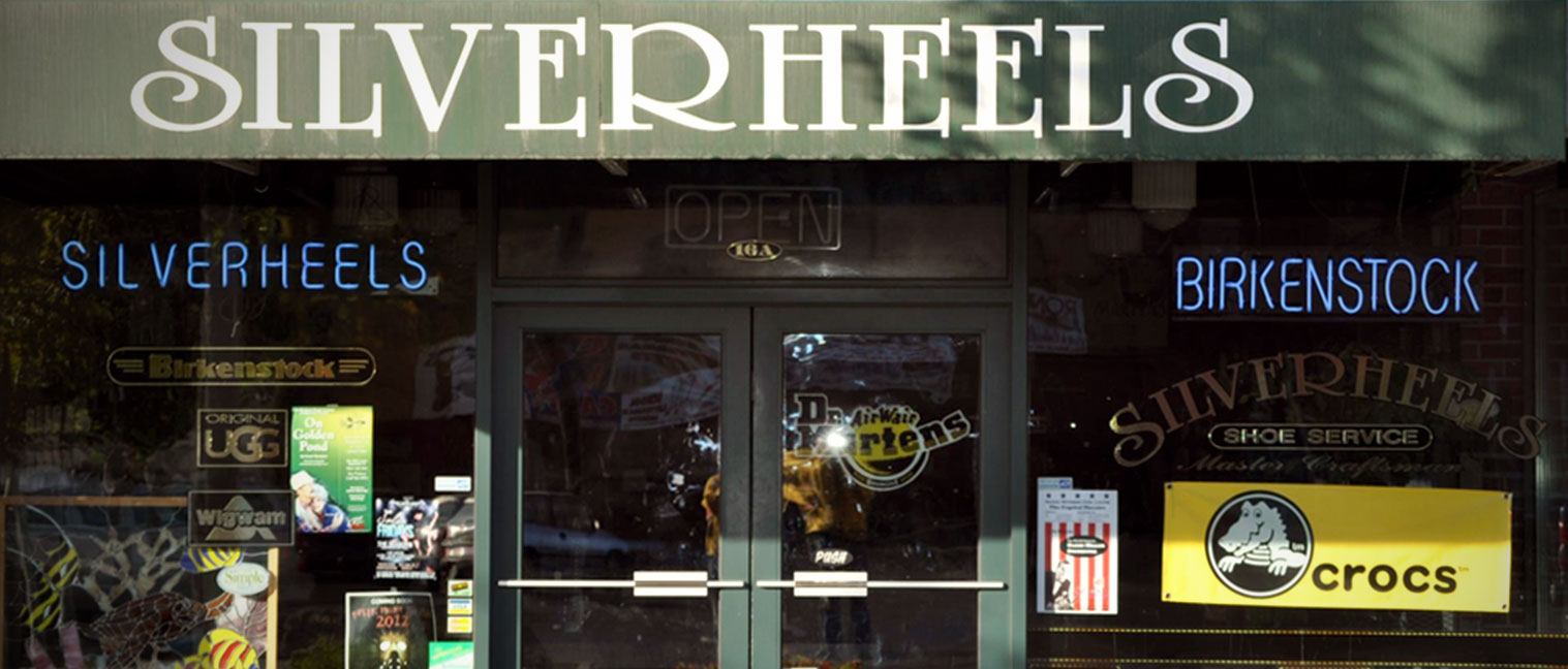 Storefront of Silverheels in Yakima, WA.